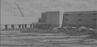 Construction of Hoffman Estates High School - early 1973
