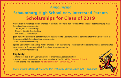 SHS VIP Scholarships