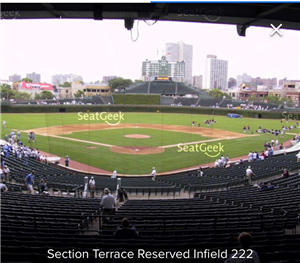 Section Terrace Reserved Infield 222 Cubs Wrigley Field
