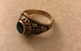 CLASS RING RETURNED AFTER 44 YEARS